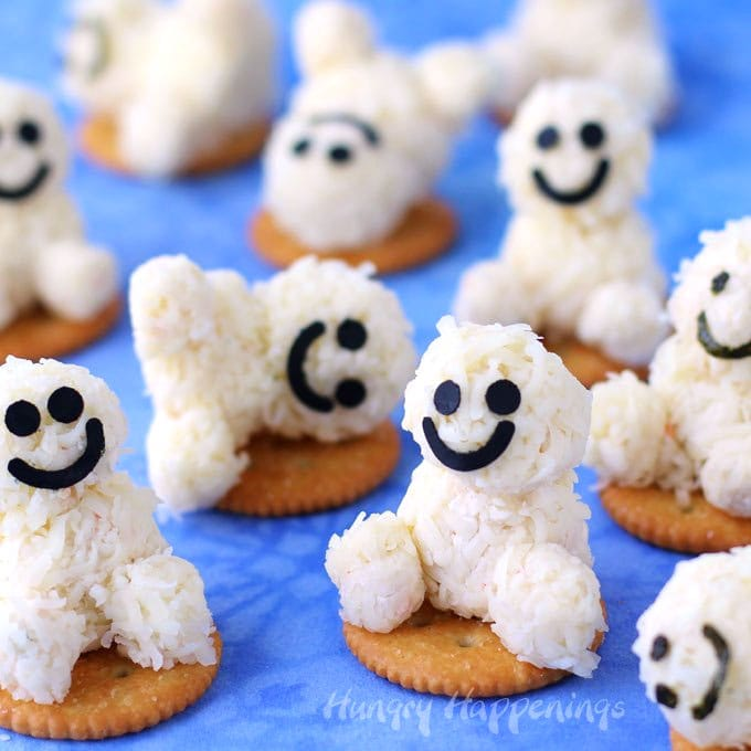 Mini cheese ball Snowgie Snacks