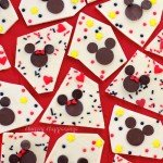 Mickey and Minnie Mouse Chocolate Bark is so simple to make using chocolate wafers and chips. Add lots of sprinkles for fun. See the tutorial at HungryHappenings.com.