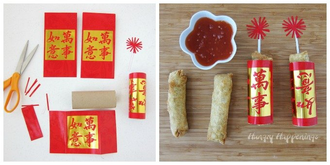 FIrecracker Egg Rolls - Chinese New Year Party Food.