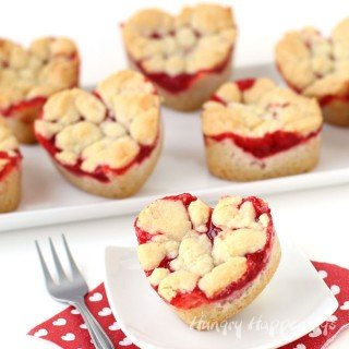 2 Ingredient Heart Shaped Cherry Pie Bars