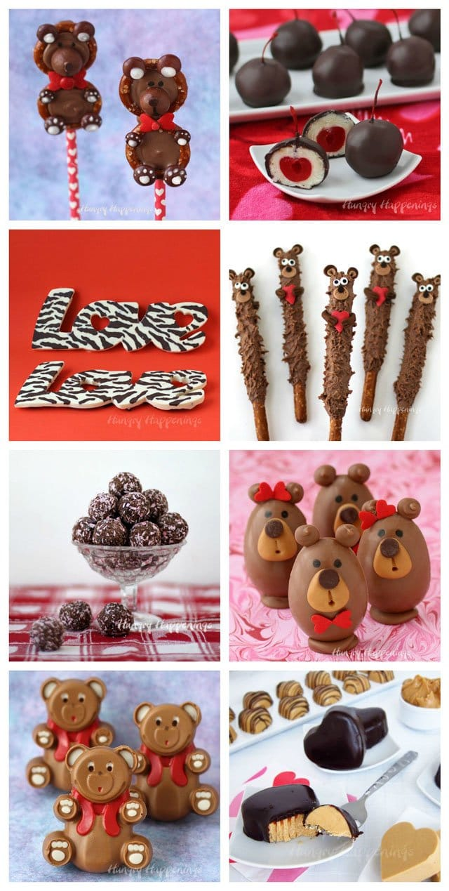 Sweet treats and homemade chocolate make the perfect Valentine's Day gifts. See how to make all of these fun foods at HungryHappenings.com.