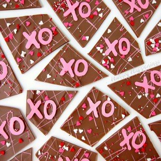 Hugs and Kisses Chocolate Bark (X's and O's)
