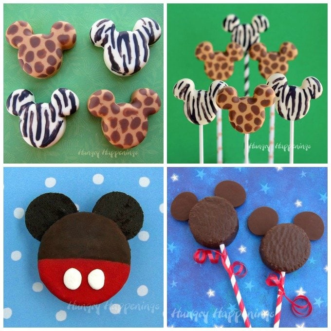 Mickey Mouse Treats - Animal Print Mickey Mouse Pops and Mickey Mouse Snack Cakes