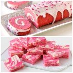 Add a punch of color to your dessert table by serving a bright Pink Velvet Cake Roll or a plate full of Pink Velvet Cheesecake Bars. Both of these pink desserts will sweeten up your Valentine's Day, brighten up a baby shower, or liven up a pot luck.