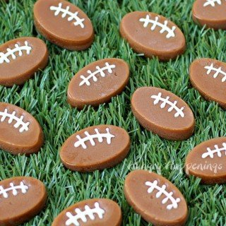 Microwave Caramel Footballs – Super Bowl Snacks
