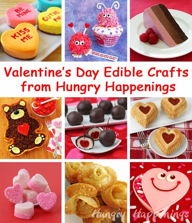 Valentine's Day edible crafts are fun to make and even more fun to eat.