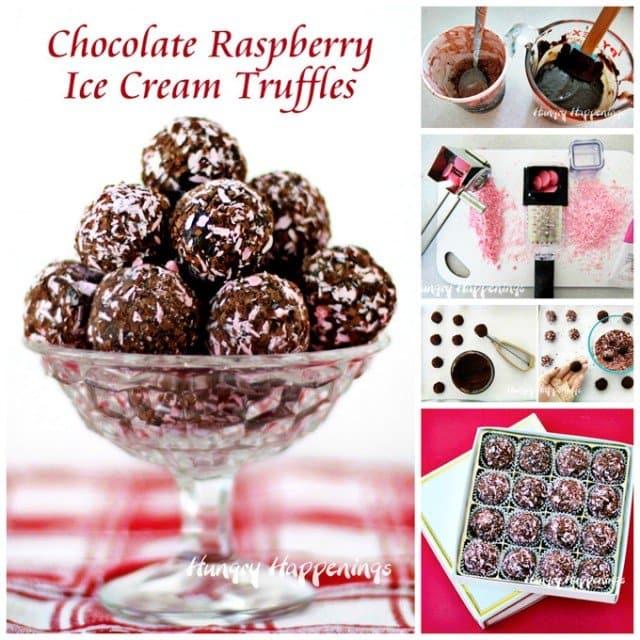 ake Chocolate Raspberry Truffles using black raspberry ice cream and dark chocolate. See the recipe at HungryHappenings.com.