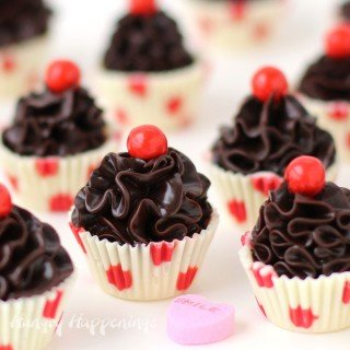 Chocolate Truffle Cupcakes – Bite Size Valentine's Day Treats