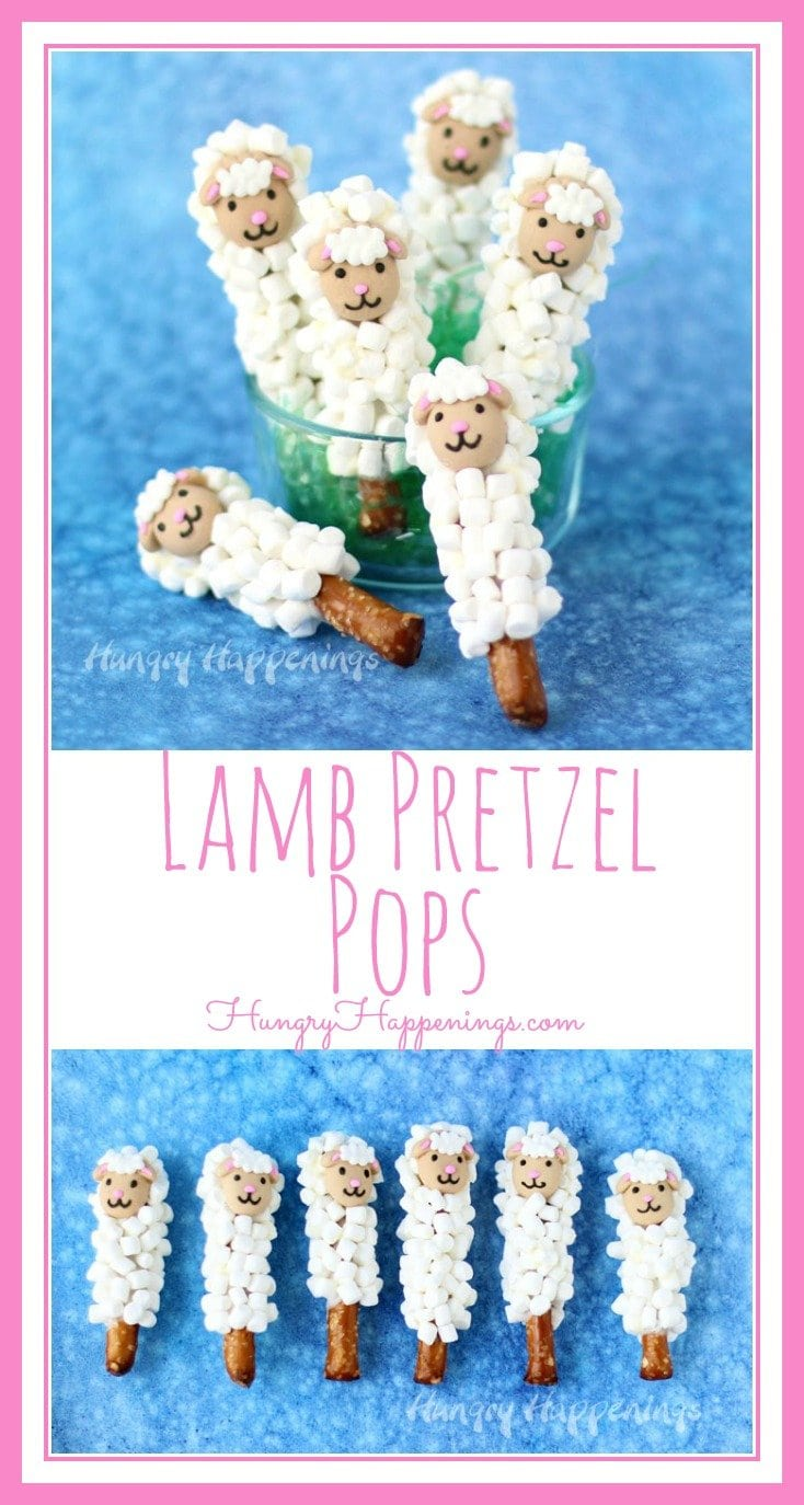 This holiday make some super Easy Easter Treats to share with the kids. These adorably cute Lamb Pretzel Pops coated in mini marshmallows can be made in minutes and are just too cute.