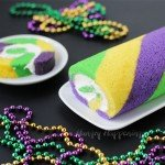 Break tradition and celebrate Mardi Gras by making this festive green, gold, and purple King Cake Roll.
