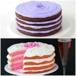 Easy Naked Cakes - Chocolate Cake with Lavender Frosting and Pink Velvet Cake with Pink Champagne Frosting