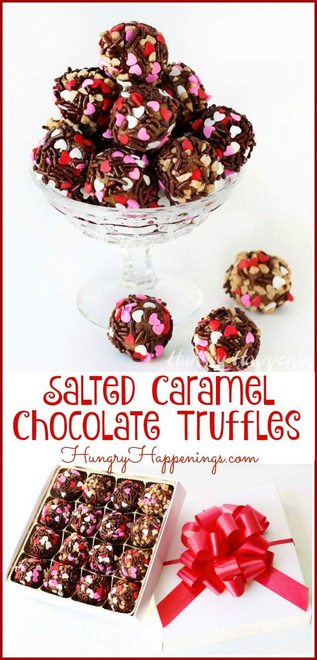 Intensify the flavor of homemade chocolate truffles by using your favorite ice cream instead of heavy whipping cream in the recipe. These Salted Caramel Chocolate Truffles are so decadently good and so easy to make that you'll want to make lots of them to give as gifts this Valentine's Day.
