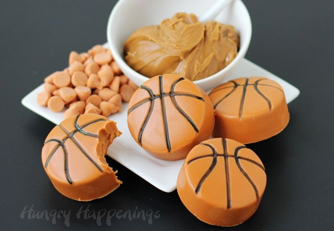 Turn Biscoff Spread and Butterscotch Chips into a decadent fudge and use it to make Basketballs for your March Madness party.