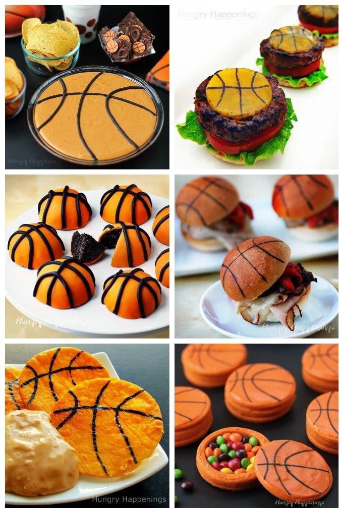 Scored big when you serve some of these fun Basketball themed snacks at your March Madness party.