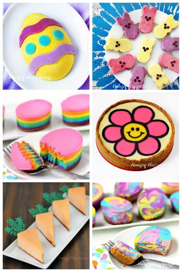 Festively decorated cheesecakes make wonderful Easter desserts.