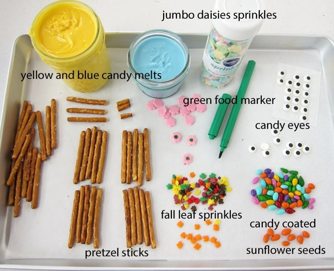 Gather up these ingredients to make White Chocolate Pretzels Easter Chicks.