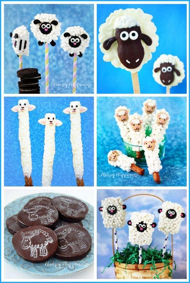Lamb Easter Treats - Oreo Lambs, Nutter Butter Lambs, Lamb Pretzels, Lamb Cookies