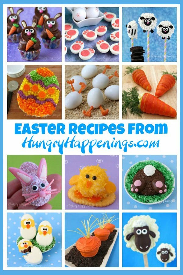 Fun Easter recipes from HungryHappenings.com including cute treats and appetizers.