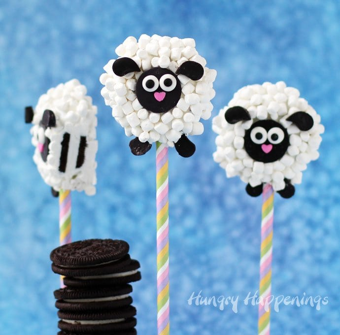 Make sweet Oreo Lamb Lollipops for Easter. Your baskets will look cuter than ever.