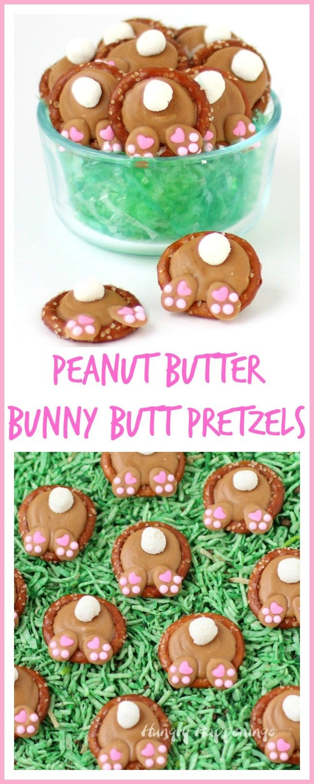 nut Butter Bunny Butt Pretzels make adorable additions to your Easter baskets.