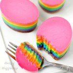 Rainbow Cheesecake Easter Eggs