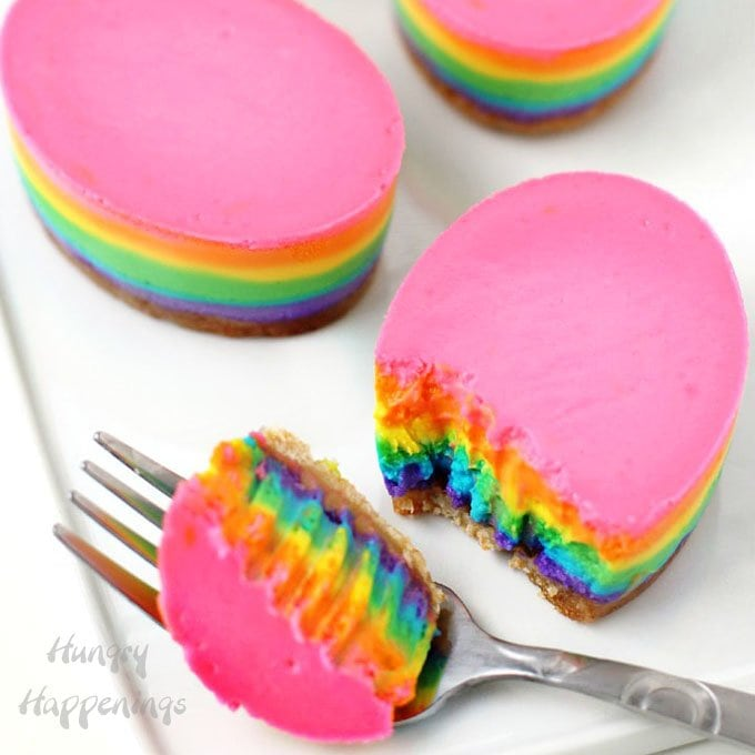 Rainbow Cheesecake Easter Eggs