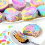 Colorful Tie-Dye Swirl Cheesecake Easter Eggs will brighten up your dessert table this holiday.
