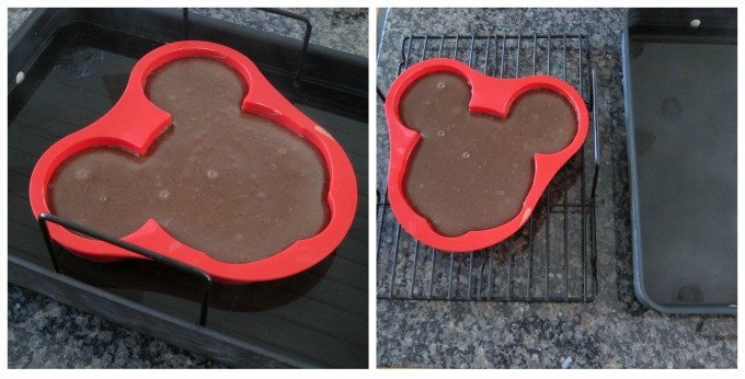 Make a decadent chocolate Mickey Mouse Cheesecake to serve at your Disney themed party.
