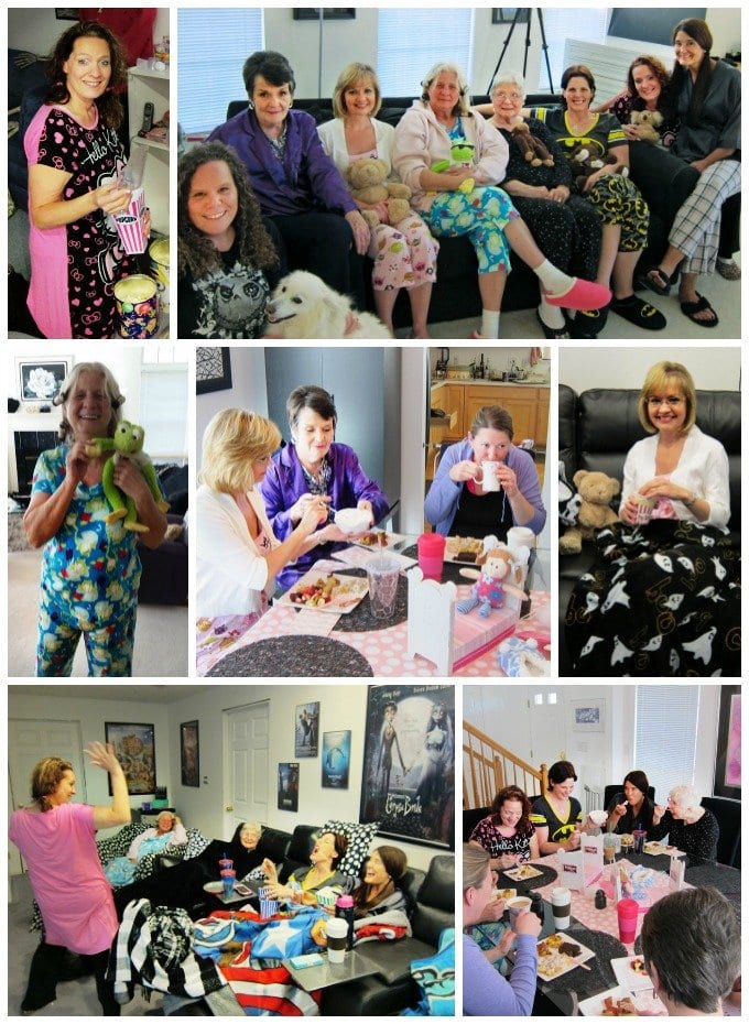 Throw a grown up pajama party for your friends, it's so much fun!