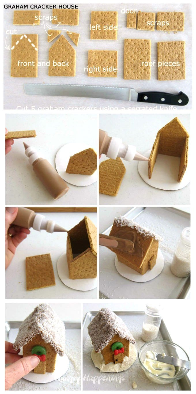 How to build a graham cracker house.