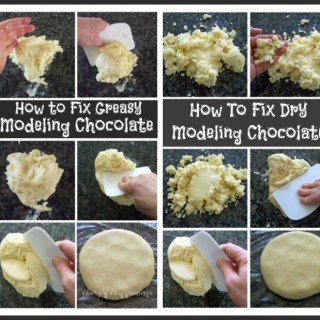 How to fix greasy, oily, dry, or crumbly, modeling chocolate. Don't through away your chocolate clay, you can fix it.