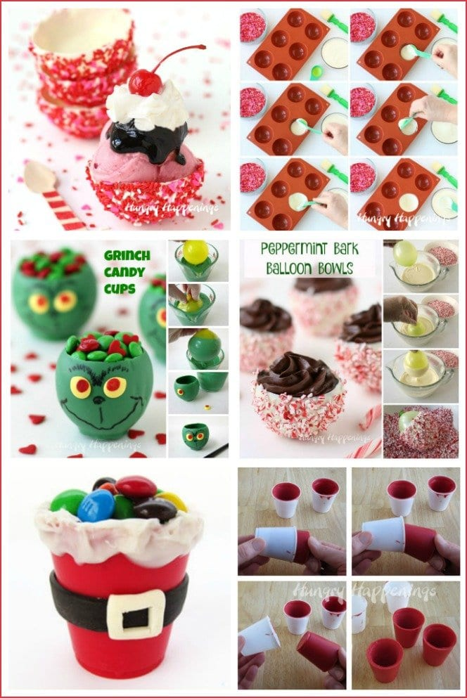 There are several different methods for making chocolate or candy cups using silicone molds, plastic cups, balloons, or muffin tins.
