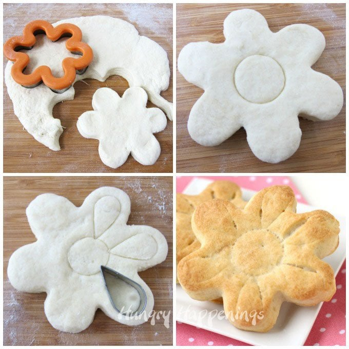 How to make daisy shaped biscuits.