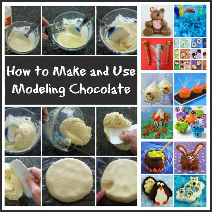 How to make and use modeling chocolate. It's easy and fun. See the modeling chocolate recipe and step-by-step tutorial at HungryHappenings.com.