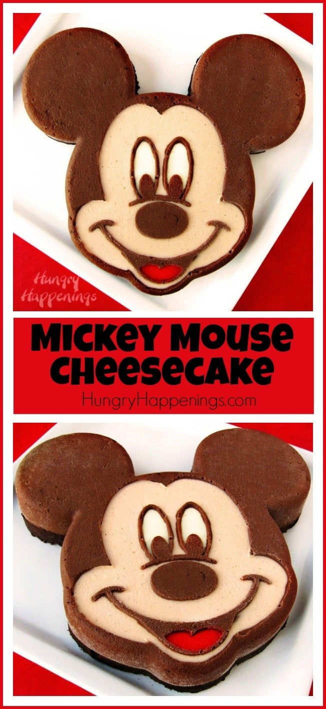 Create a fun Disney dessert for your party. This Chocolate Mickey Mouse Cheesecake is as fun to make as it is to eat.