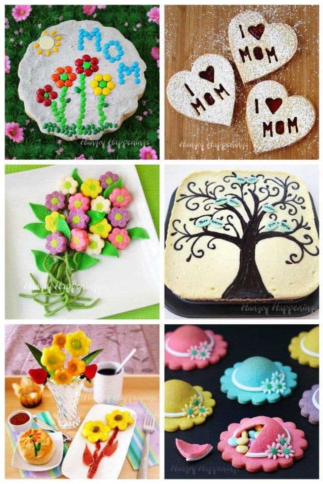 Fun recipes and edible craft ideas for Mother's Day. See all the tutorials at HungryHappenings.com.