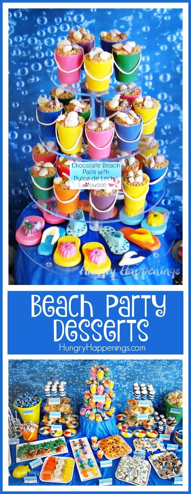 Serve up some fun this summer by creating a colorful tablescape filled with festive under the sea treats and beach themed party food. You can use all these creative Beach Themed Party Ideas when you host your back yard pool party, destination wedding, or summer graduation party.