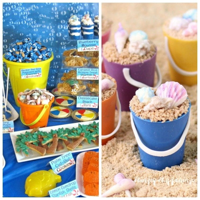 Throw a beach themed party and serve handmade chocolate sea shells in mini chocolate beach pails or in larger plastic beach pails.
