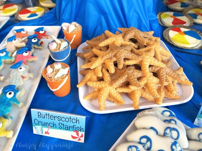 Create a plate full of Butterscotch Crunch Starfish for your beach party.
