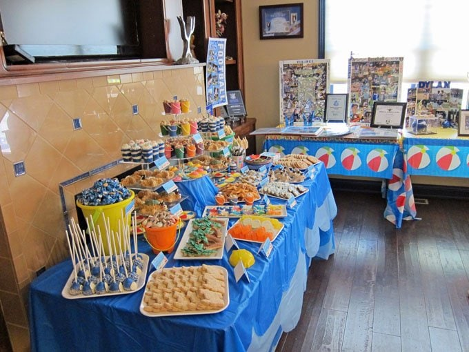 Beach themed graduation party.a