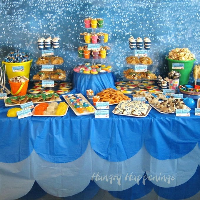 Dolphin Themed Party Food