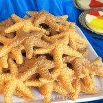 Beach themed party treats - Butterscotch Crunch Starfish.