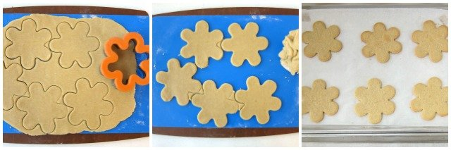 Daisy cut-out cookies