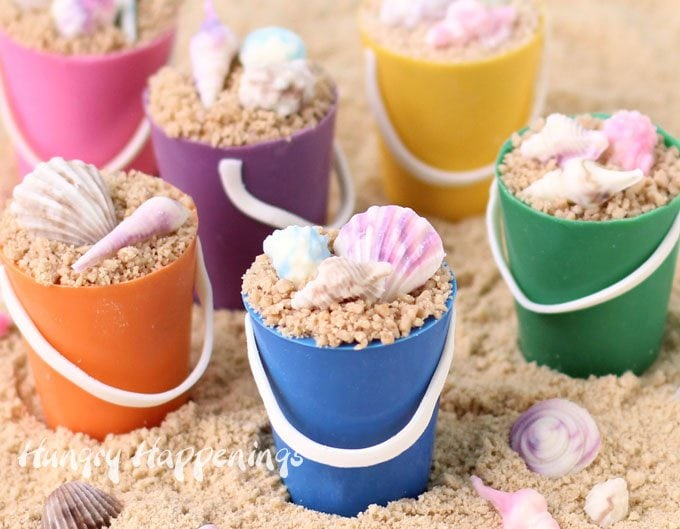 Beach Party Treats - Mini Chocolate Beach Pail