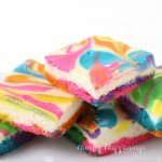 Rainbow Cheesecake Bars