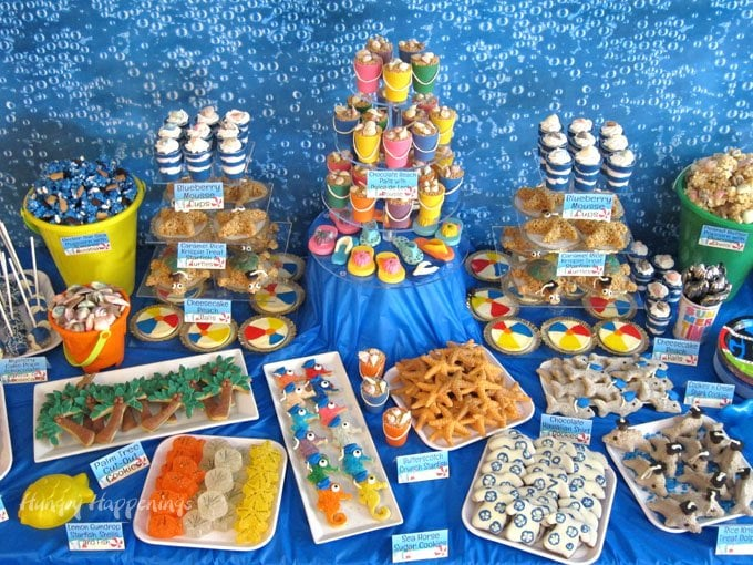 Under the sea beach themed graduation party.