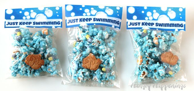 Just Keep Swimming Printable Labels for Finding Dory Popcorn