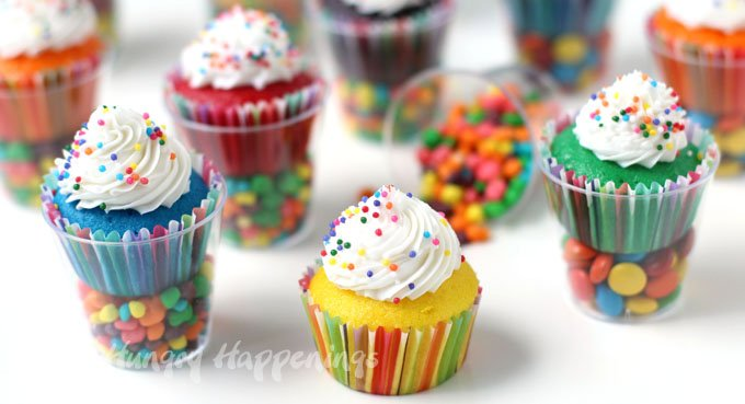 Filled Cupcakes With White Cake Mix