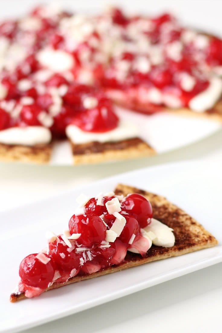 Cherry Pie Nachos on Cinnamon Crunch Pie Crust