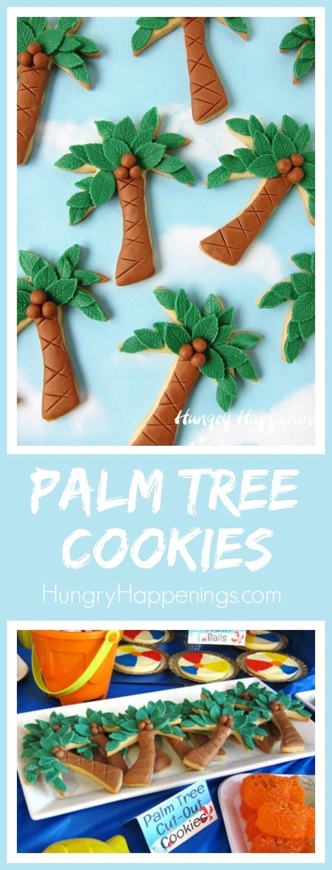 Add chocolate coconuts to your palm tree cookies for your beach themed party or event.